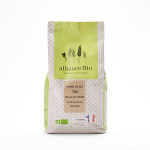 Achat en ligne de farine de blé ancien semi-complète T80 bio sur meule de pierre