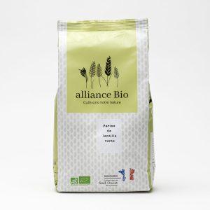 Minoterie vente en ligne farine lentille verte bio
