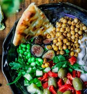 Salade de pois chiche orientale