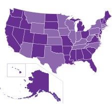 Cloud U.S. Customers map
