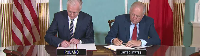 Video of the signing of the US-Poland Science and Technology Agreement