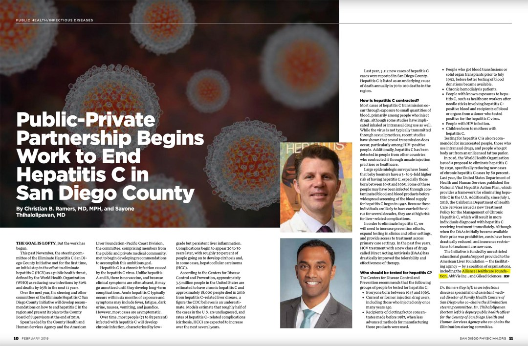 Public-Private Partnership Begins Work to End Hepatitis C in