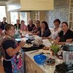 kitchen full of latinx persons