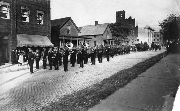 Funeral procession for C.C. Weybrecht