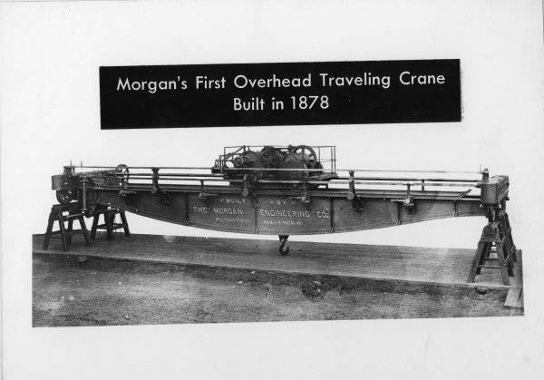 Morgan's 1st Overhead Traveling Crane