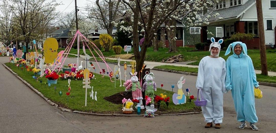 East Milton Street Easter decorations