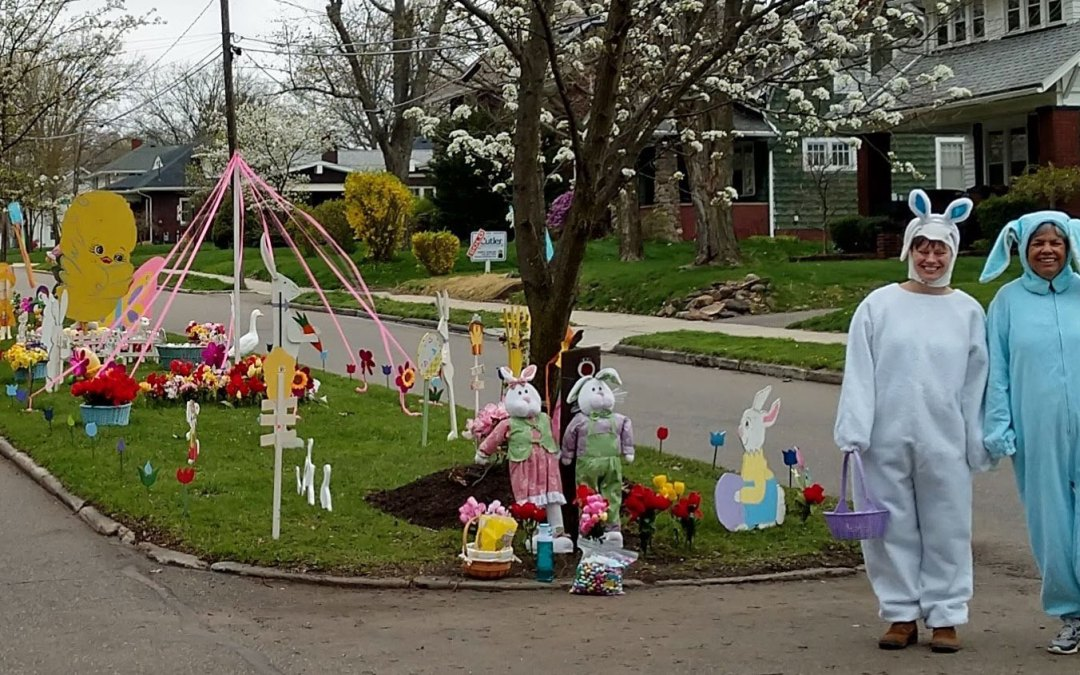 Easter Decorations on E. Milton Street
