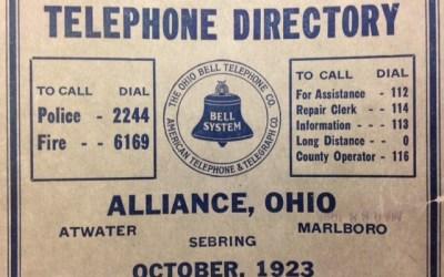 The earliest Alliance telephone book