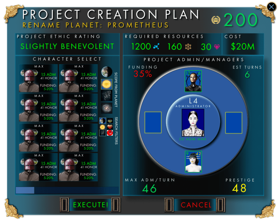 Project Screen Mock