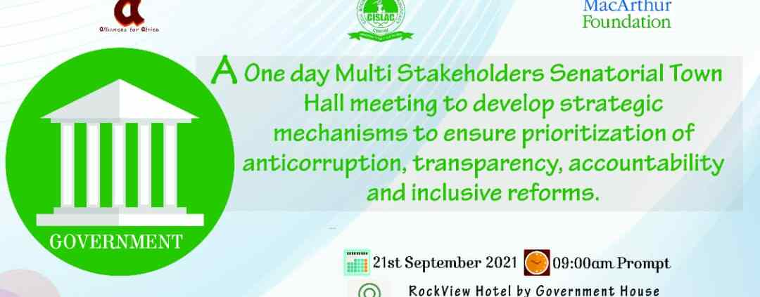 The One Day Multi Stakeholders Senatorial Town Hall Meeting