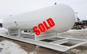 Skidded propane tank sold
