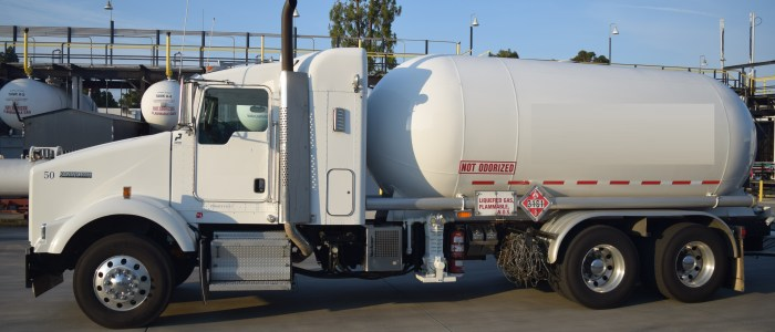 Used Kenworth truck and propane transport