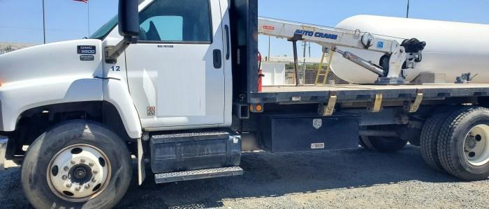 Used LP crane truck