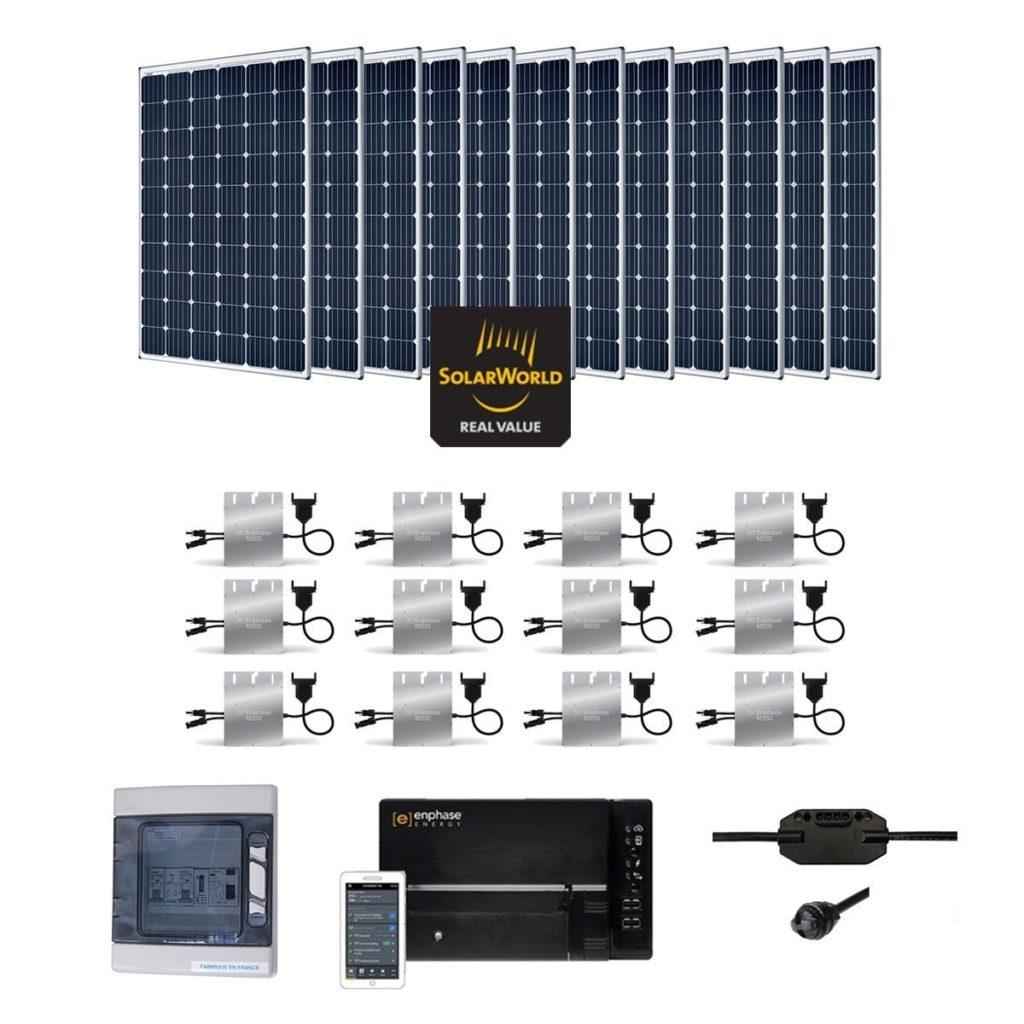 kit solaire de 3 6kwc 6kwc 9kwc en autoconsommation