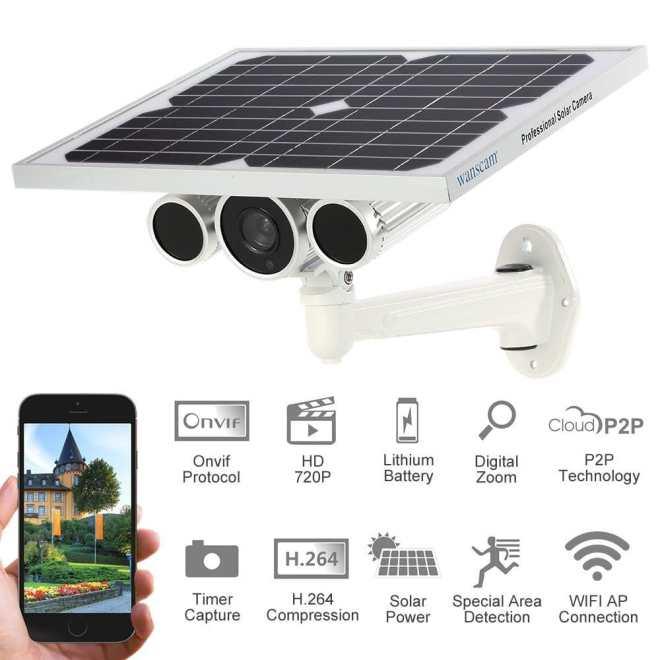 camera surveillance solaire maroc