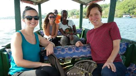 Our boat ride to the source of the Nile River