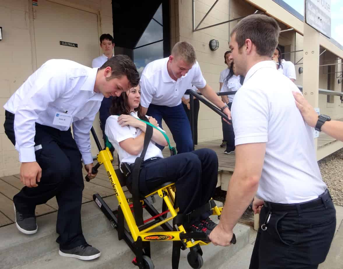 ems stair chair toyota sienna captains chairs removal online emt course allied medical training