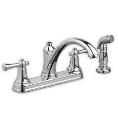 American Standard Kitchen Faucet Cabinets Doors For Sale Portsmouth With Side Spray Two Handle Polished Chrome