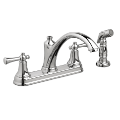 American Standard Kitchen Sinks Sink Cabinet Portsmouth 2 Handle Faucet With