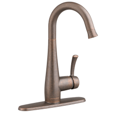 Oil Rubbed Bronze Pull Down Kitchen Faucet Lighting For Kitchens American Standard Quince 1 Handle High Arc Bar