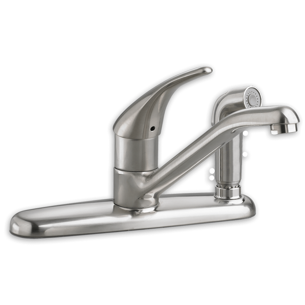 kitchen faucet with side sprayer cabin cabinets american standard colony soft 1 handle