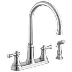 Kitchen Faucets Stainless Steel Espresso Table American Standard Portsmouth 2 Handle High Arc