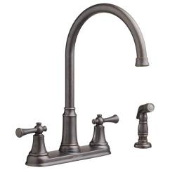 Kitchen Faucet With Side Spray Portable Cart American Standard Portsmouth 2 Handle High Arc