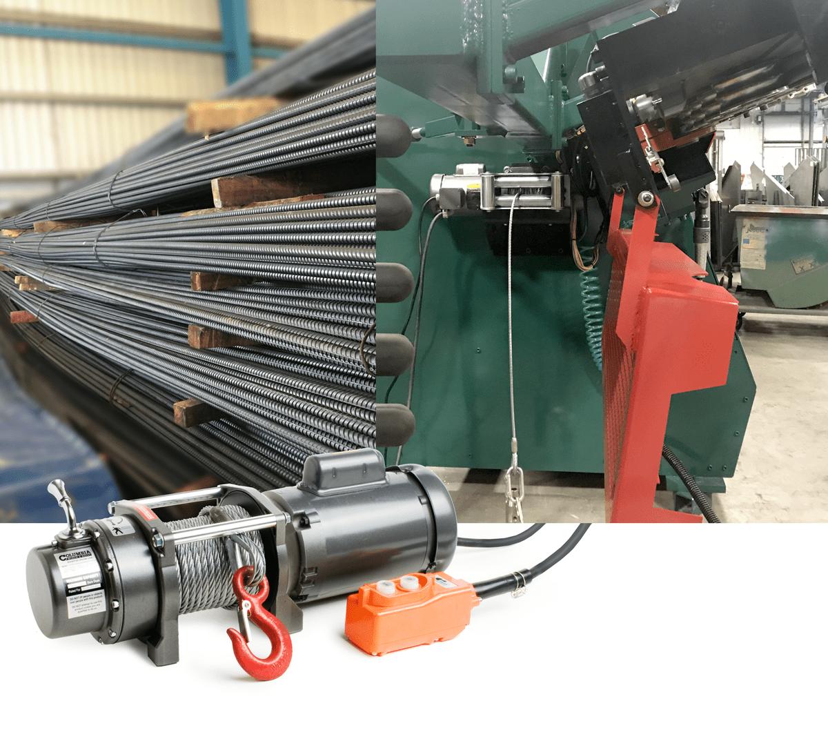 hight resolution of columbia rebar winch simplifies manufacturing