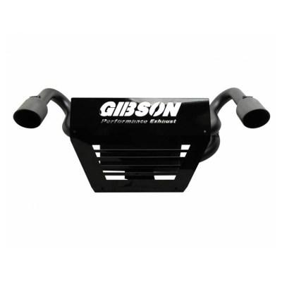 Gibson Performance UTV Dual Exhaust for 2014 Polaris Black Dual 98015