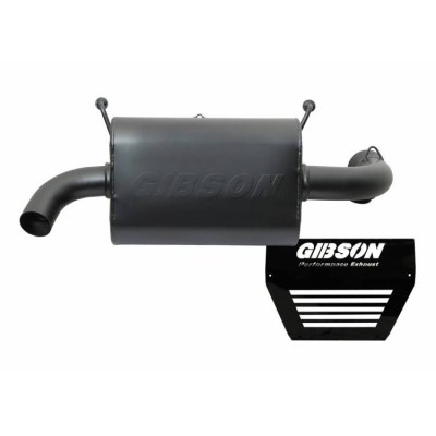 Gibson Performance UTV Single Exhaust for 2016 Polaris Black Single 98020 01