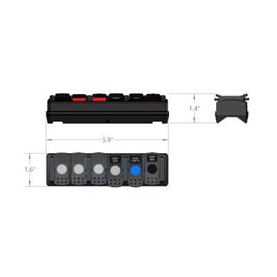 Trigger 6 Shooter Wireless Accessory Remote Dimensions