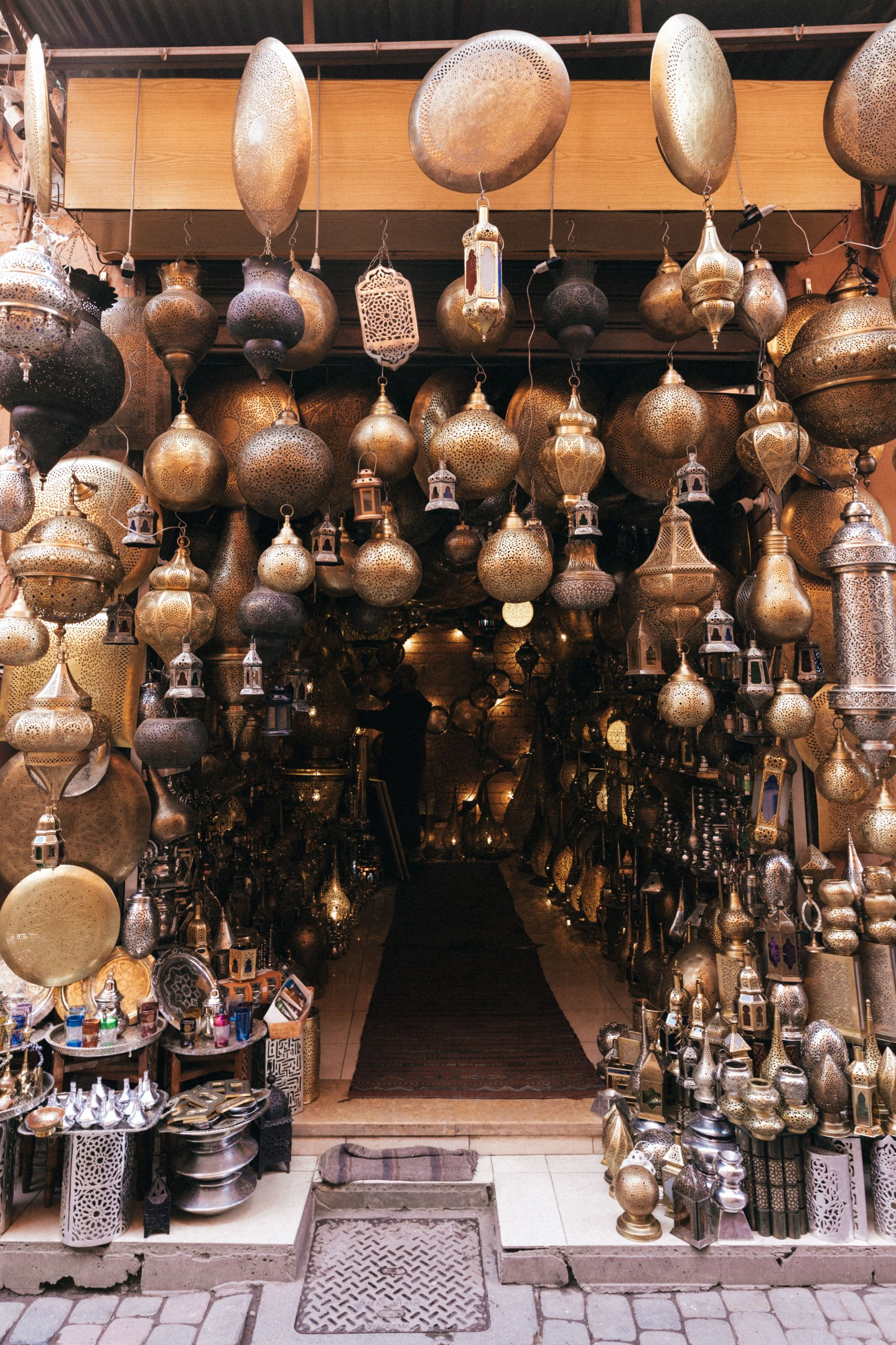 Lamp store in the souks of Marrakech