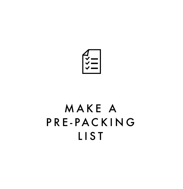 Carry on packing tip #1: Make a pre-packing list