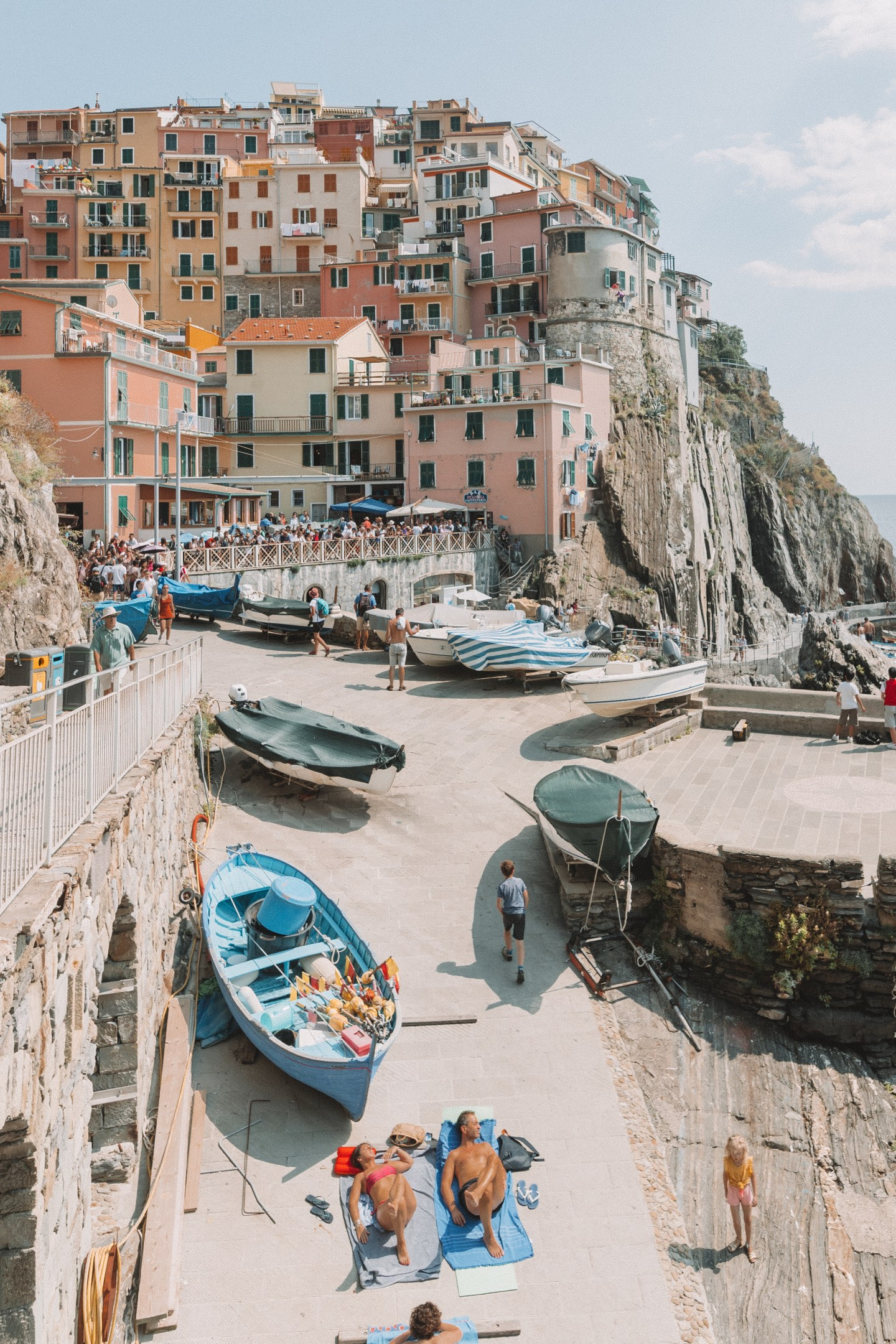 Colorful buildings of Manarola