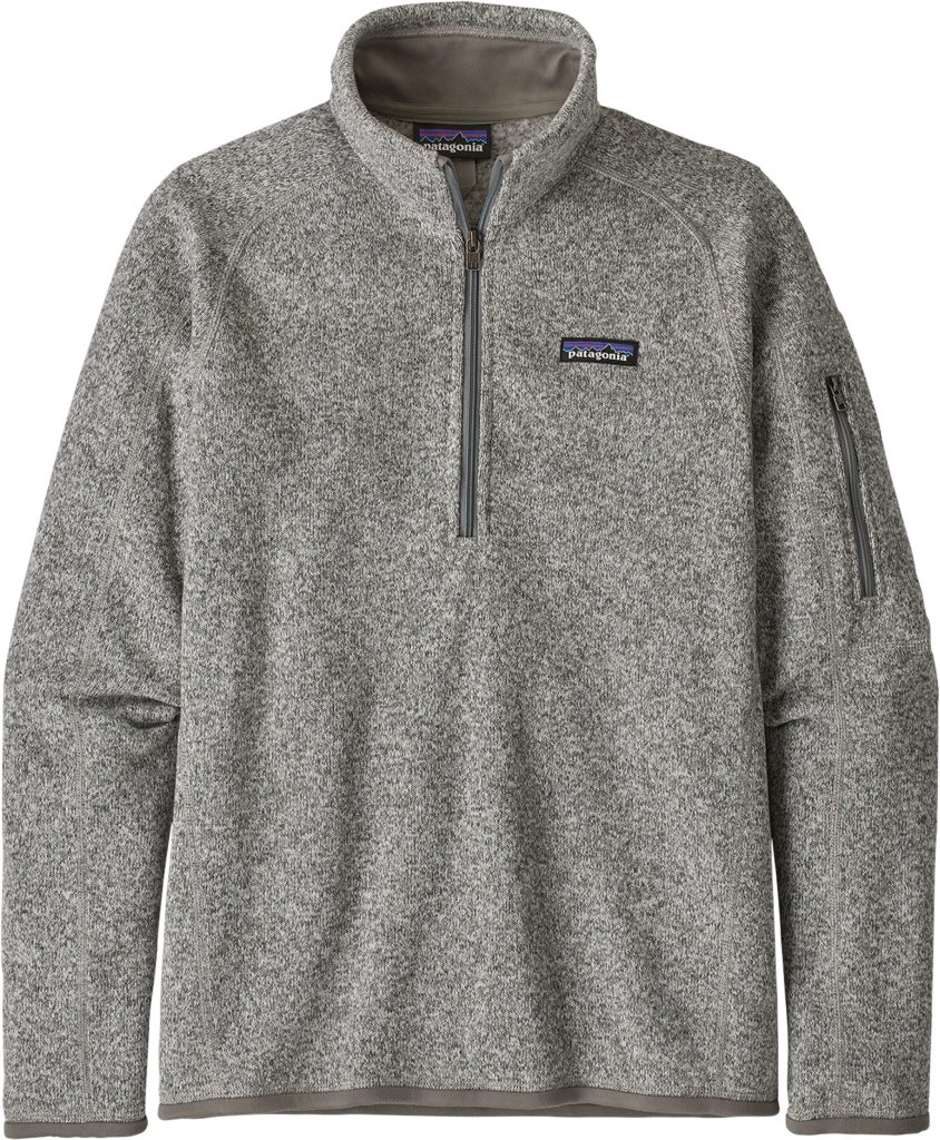 Patagonia Grey 1/4 Zip Fleece Sweater