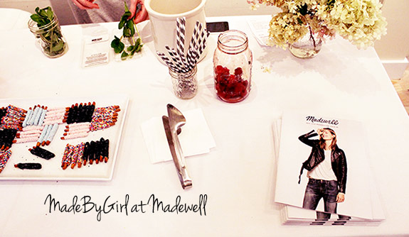 """[dropcap custom_class=""""normal""""]T[/dropcap] his past weekend I attended a wonderful event at Madewell in New York City. It was a pop up shop for the talented blogger and artist Jen Ramos of the well known blog Made By Girl. This co-sponsored event was the perfect way to spend a Saturday afternoon with fruity cocktails, tasty hourderves, plenty of fellow bloggers to chat with and of course lots of beautiful ar"""