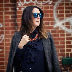Hanging in Williamsburg Brooklyn in my Aldo shades HampM blazerhellip