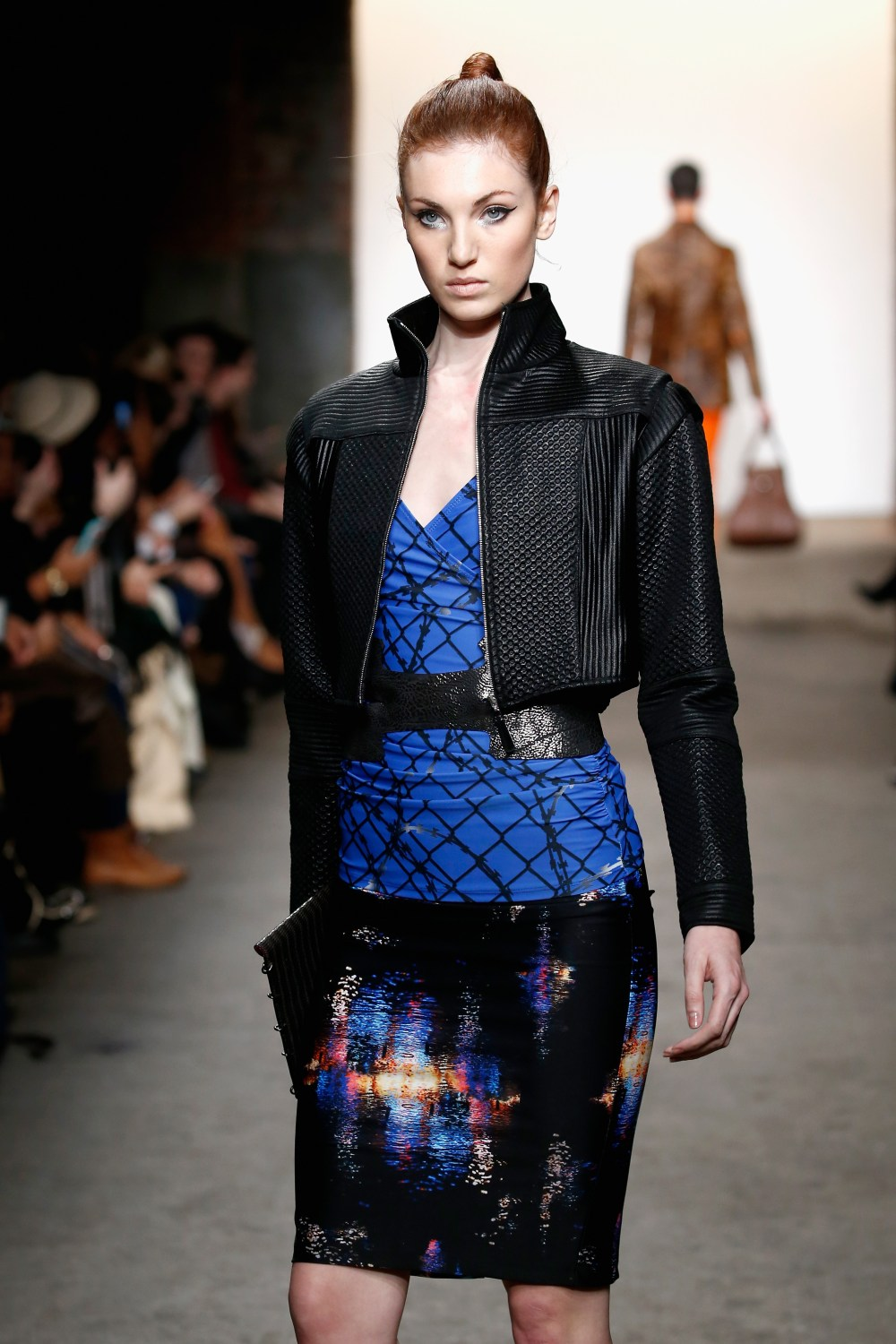 NEW YORK, NY - FEBRUARY 15: A model walks the runway wearing ACID NYC at Nolcha Shows during New York Fashion Week Women's Fall/Winter 2016 presented by Neogrid at ArtBeam on February 15, 2016 in New York City. (Photo by Brian Ach/Getty Images For Nolcha)