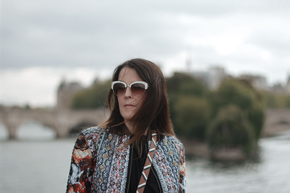 Sharing some more snaps from Paris. Here I am standing on a Bridge over the Seine.  I still had these fun sunnies.