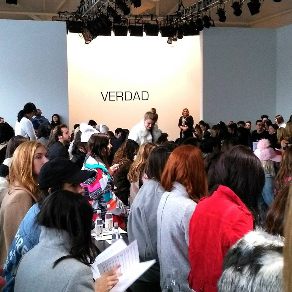 Preshow excitement it was worth the wait Verdad NYFW Pier59Studioshellip