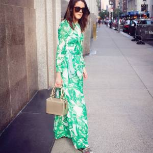 Feeling cool and chic in my sheinofficial palm print maxihellip
