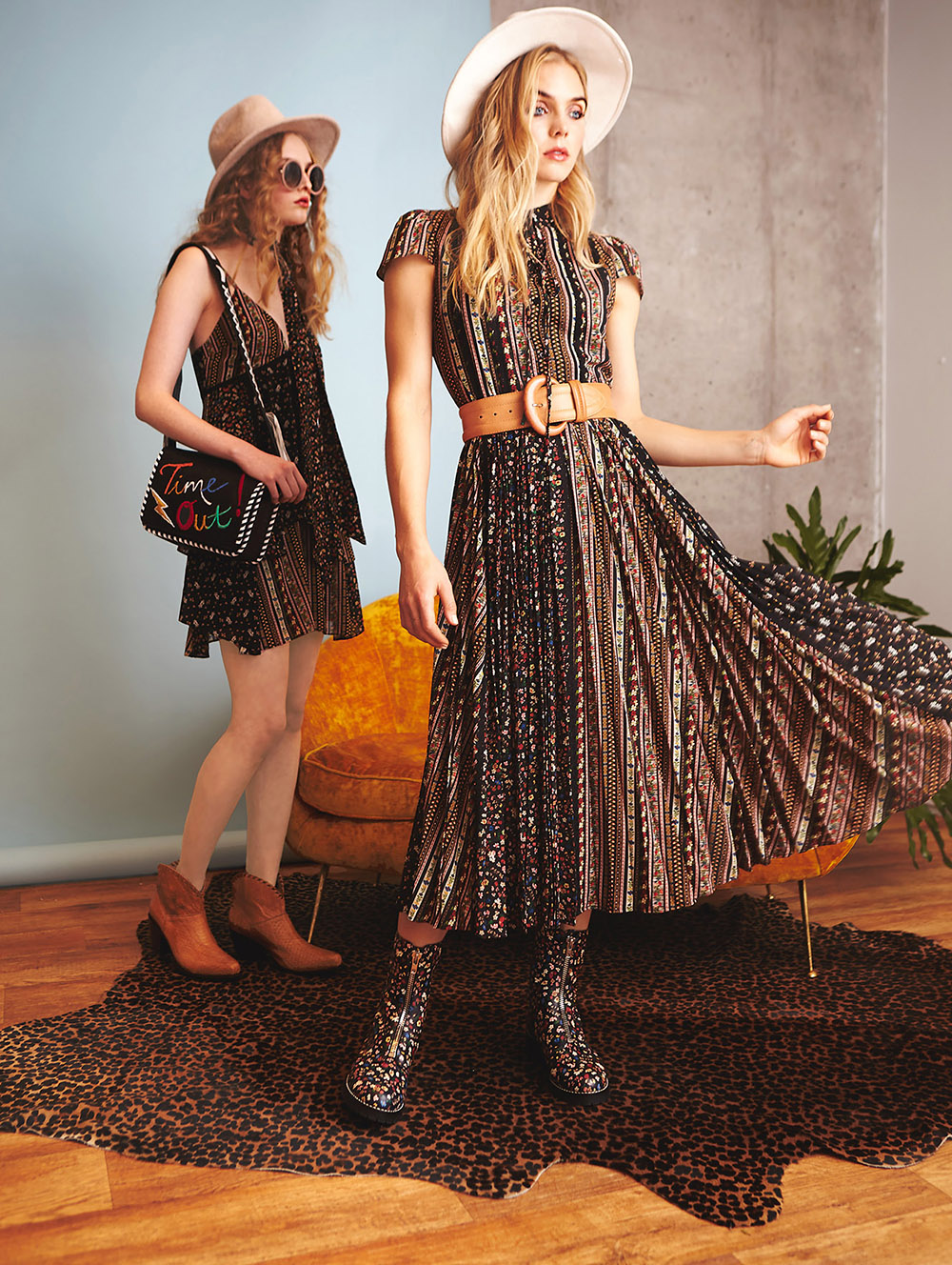 Beloved boho with marching to the beat of Sargent Pepper could aptly describe Alice & Olivia's lineup for pre-fall 2017