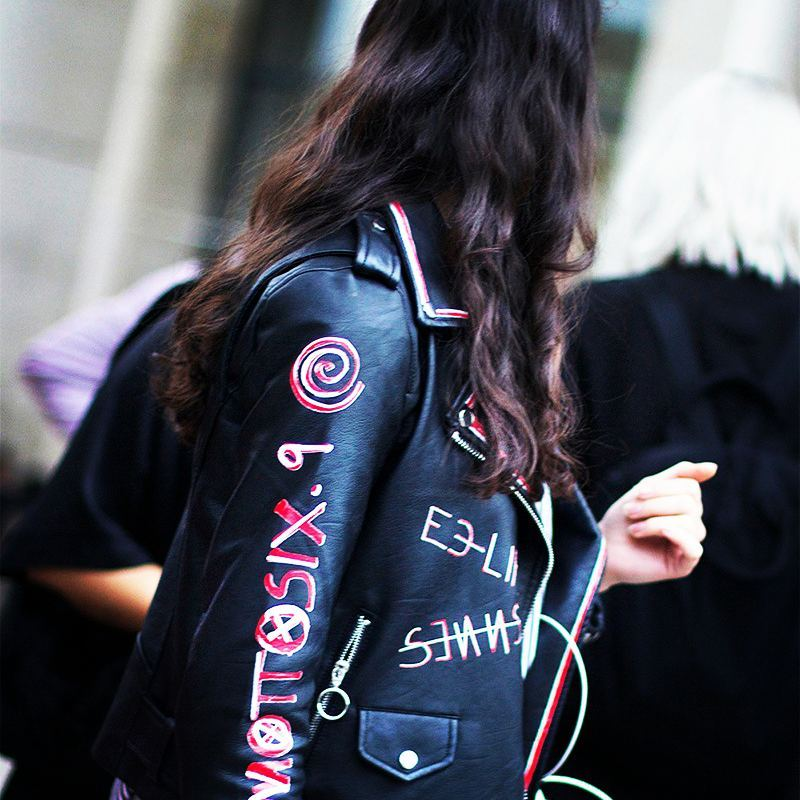 Loving this Moto jacket and its eye catching details onhellip