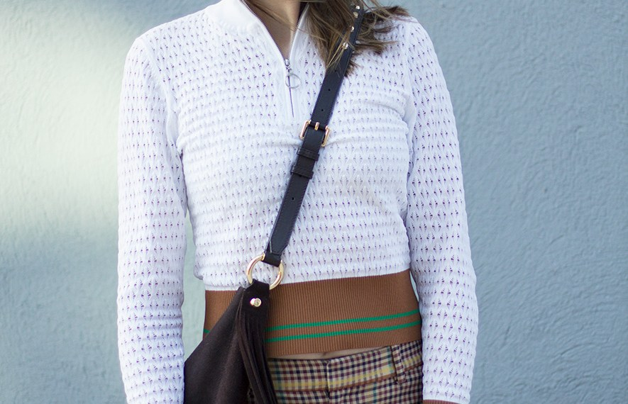 A SANDRO TOP AND OTHER STORIES TROUSERS AND AN OVER-SIZED SADDLE BAG