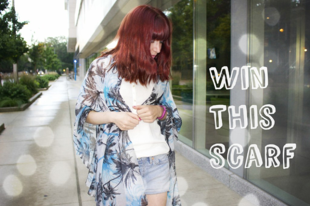win a scarf, giveaway, contest