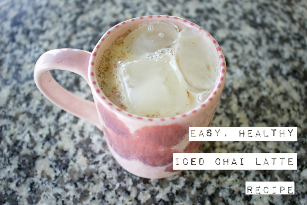 easy healthy iced chai tea latte recipe