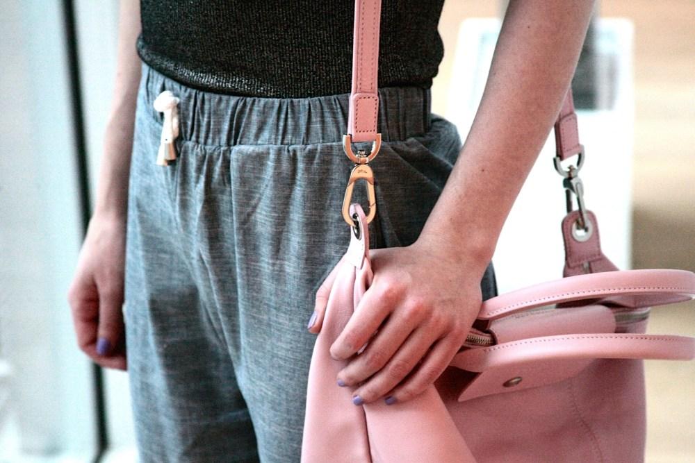 Allison Izu Denim Sweats Longchamp bag