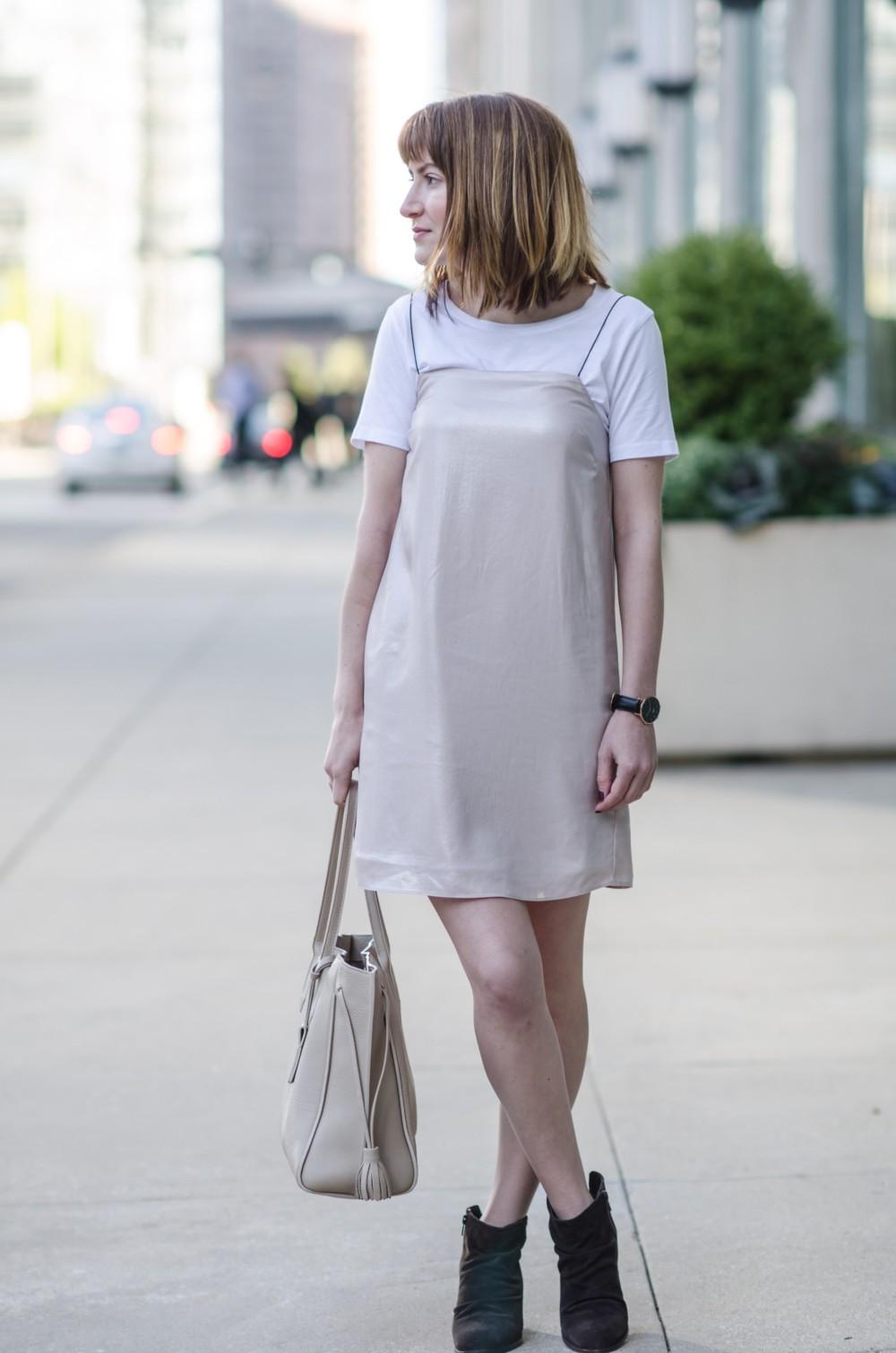 Slip Dress and Skechers