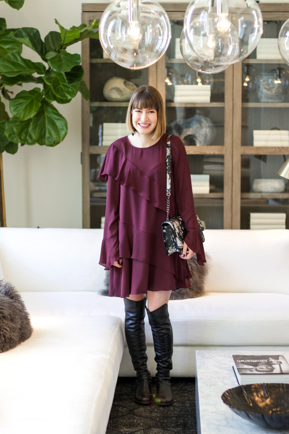 Ruffle Dress Holiday Look