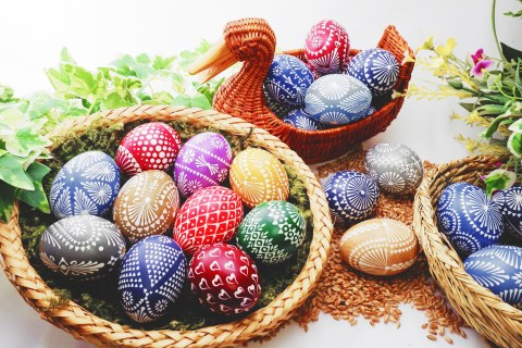 Traditional Orthodox Easter eggs showcase incredibly geometric designs.